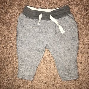 Carters Grey Baby Joggers 6M